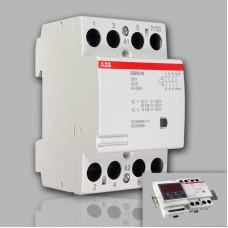 Модульный контактор ABB ESB-63-40 (63А AC1, 4НО) 220В АС/DC