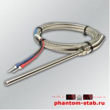 Датчик температуры термопара тип К +400°C в щупе 100мм